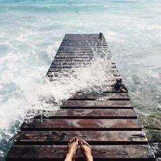 feet and salt water