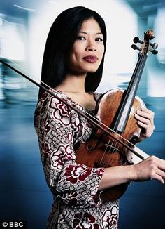 Talent: Vanessa Mae has sold more than 10million records and was the youngest soloist ever to record the demanding Beethoven and Tchaikovsky violin concertos when she was 13
