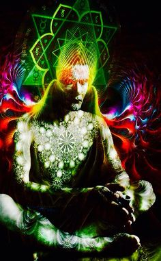 ayahuasca vision - At the molecular level, the quantum level, a shaman will change their energy field to interact with the energy field of living and non-living objects. Psy Art, Mystique, Visionary Art, Sacred Art, Psychedelic Art, Shiva, Krishna, Healer, Sacred Geometry