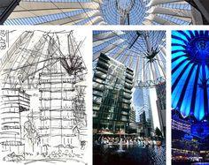 Sketch VS Photo Zeichnung Foto Urlaubserinnerungen Berlin