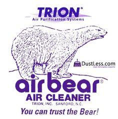 DustLess.com - Dust Elimination Experts.  Air bear filters - Air Purifiers, HEPA Air Cleaners, Ozone Generators.