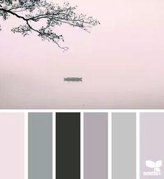 pretty blues and greys. bathroom colour scheme | colour