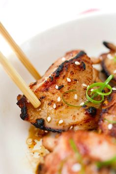 Asian Five-Spice Chicken - deeply flavorful and moist pan-fried skillet chicken marinated with Asian spices
