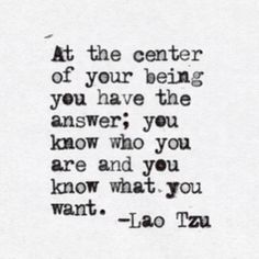 At the center of your being