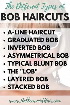 Bob haircuts are kinda amazing.but do you know the difference between a graduat… Bob haircuts are kinda amazing.but do you know the difference between a graduated bob, a-line haircut, and the other types of bob haircuts? Asymmetrical Bob Haircuts, Layered Bob Hairstyles, Short Bob Haircuts, Graduated Bob Haircuts, Graduated Bob Medium, Thick Bob Haircut, Medium Hairstyles, Curly Hairstyles, Angeled Bob Haircut