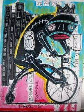 POETE MAUDIT, Street Art, Outsider, Painting, Naive, Brut, ESCAPE FROM NEW YORK