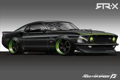 1969 Ford Mustang | Beautiful Black Ford Mustang 1969 - HD Wallpapers