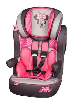 Disney Minnie Mouse Pink I Max Imax SP 1-10yr Baby Child Car Seat Booster
