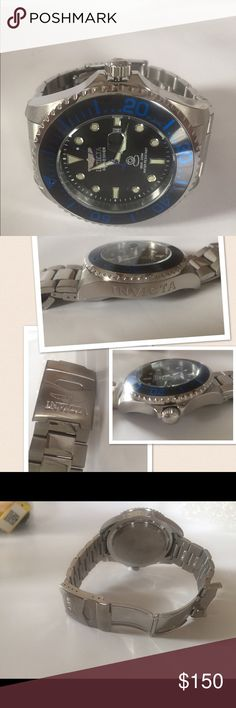 Invicta Mens Watch Model No. 17571 Stainless steel , water resistant 200 m , like new Invicta Accessories Watches