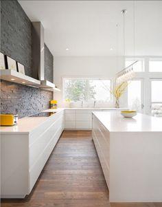 Contemporary modern kitchen.