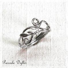 ... argent massif - Bague damour de style elfique, romantique... : Bague