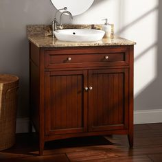 "30"" Halifax Cherry Vanity for Semi-Recessed Sink"