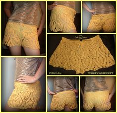 Abacaxi Lace Bikini Shorts de Patrimônio Heartcraft
