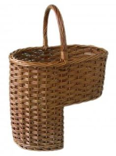Stair basket - ♥ this! Have one and put the kids' shoes in it for easy access.