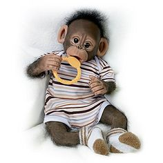 Quot Clementine Needs A Cuddle Quot Baby Monkey Doll By Linda