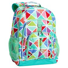Gear-Up Multi Kaleidoscope Triangles Backpack | PBteen