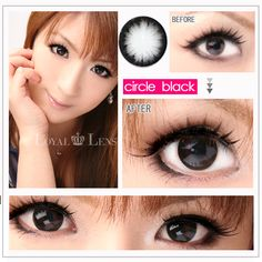 HYPERSIZE Circle Lens. These supersized circle contact lenses give you huge, glassy eyes that look like those of a Barbie doll. Try these extra large contacts for a super kawaii ulzzang look!