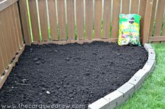 how to make a brick flower bed