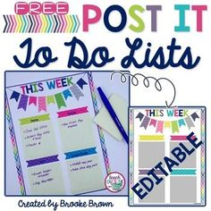 This freebie was created in honor of my dear teacher friend, Sara Plant, who constantly has Post it notes lining her desk and computer! This template gives a colorful, happy home for all those reminder notes! Two templates are provided, one with suggested categories and one to customize with your ...