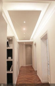 Faux plafond moderne dans la chambre coucher et le salon for Gabs marocain moderne