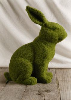 """Moss Covered 12"""" Bunny"""