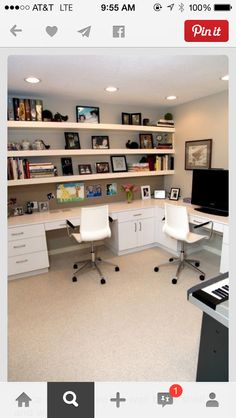 Like The Wall Of Shelves Space Saving Ideas And Furniture Placement For  Small Home Office Design, Home Office Design Decor