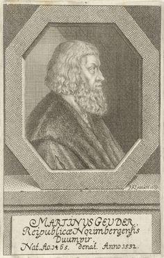 Johann Friedrich Leonard | Portret van Martin Geuder, Johann Friedrich Leonard, 1669 | Portret van Martin Geuder, magistraat te Neurenberg.