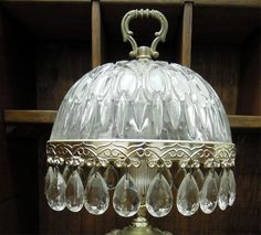 Antique Small Crystal Table Lamps