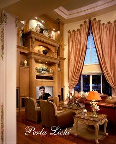 French Provencal, Fort Lauderdale, FL Family Room Vignette