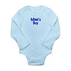 Mimi's Boy Long Sleeve Infant Bodysuit