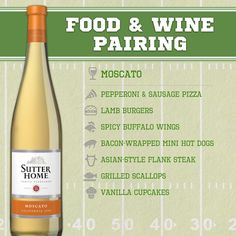 Sutter Home Wine & Food Pairing Series: Tailgating Edition! - i knew Moscato went with everythin! :)