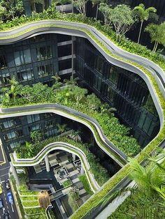 Una versión moderna de los jardines colgantes de Babilonia - Singapur