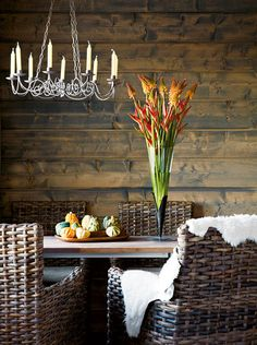 for my backyard cottage. there is something incredibly cozy about a wooden wall