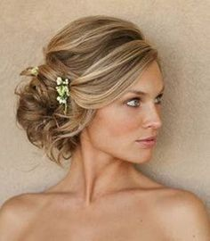 bridesmaids hairstyles side curls - Google Search