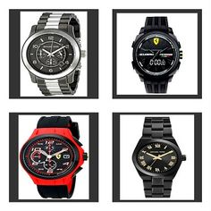 Michael Kors Runway Chronograph Two/Tone Gunmetal Stainless Steel Men's Watch Scuderia Ferrari Men's Aerdiannico Chronograph All Black Silicone Strap Mens Watch Scuderia Ferrari Men's Lap Time  Red Accents Silicone Strap Mens Watch Michael Kors Mini Channing Black Ion/Plated Stainless Steel Womens Bracelet Watch