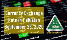 Currency Exchange Rate in Pakistan Today [23 September 2020]