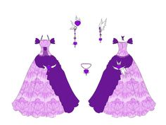 Amethyst Dress Design by Eranthe Manga Clothes, Drawing Clothes, Cartoon Outfits, Anime Outfits, Manga Anime, Emerald Dresses, Anime Dress, Dress Drawing, Dress Sketches
