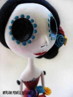 Day of the Dead Doll Dia de los muertos by MyriamPowellDesigns