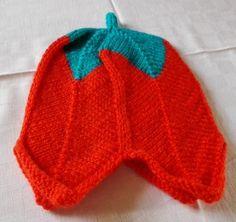 Blumenmütze orange