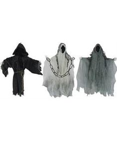 FACELESS REAPER SET OF 3 21 IN - CostumePub.com Wicked Costumes, Adult Costumes, Scary Halloween Decorations, Halloween Costumes For Kids, Usa Costume, Face L, Oriental Trading, Costume Accessories, Horror