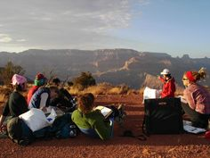 Prescott College Class at the Grand Canyon! Prescott College, College Classes, Higher Education, Places Ive Been, Grand Canyon, This Is Us, Travel, Viajes, Destinations