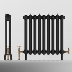 I want this exactly. Cast Iron Radiator refinished and painted dark gray. Old Radiators, Cast Iron Radiators, Home Interior Design, Interior Styling, Bungalow Renovation, 1930s House, Radiator Cover, House Inside, House On A Hill