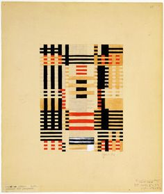 Anni Albers, Preliminary Design for Wall Hanging, 1926