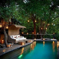 Having a pool sounds awesome especially if you are working with the best backyard pool landscaping ideas there is. How you design a proper backyard with a pool matters. Outdoor Pool, Outdoor Spaces, Outdoor Living, Outdoor Decor, Outdoor Retreat, Outdoor Furniture, Dream Pools, River House, Cool Pools