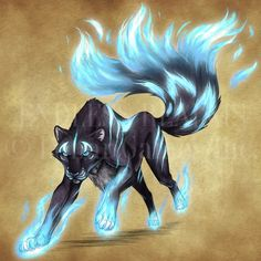 Panthère : Endless Realms bestiary - Spirit Panther by jocarra Mystical Animals, Mythical Creatures Art, Mythological Creatures, Magical Creatures, Creature Concept Art, Creature Design, Wolf Spirit Animal, Fantasy Beasts, Creature Drawings