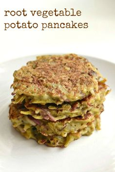 can't stop eating these root vegetable potato pancakes! This is a ...