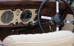 1936 Delage D8 120 Chapron Cabriolet - dash