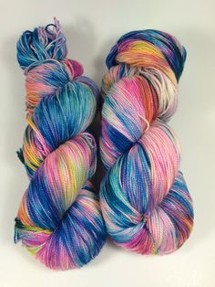 Merino Silk Shawl Fingering Hand Dyed Yarn by HauteKnitYarn