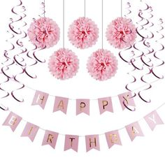 pink or blue paper banner set, kids birthday party ideas, cool kids parties, party supplies