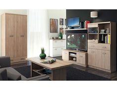 Obývací pokoj Top Mix 2 Obývací stěna z prvků kolekce Top Mix z lamina s ABS hranami. Obývací stěnu nabízíme v provedení dub sonoma nebo v kombinaci dub sonoma/bílá (viz varianty produktu). Síla lamina 16mm, … Corner Desk, Flat Screen, Living Room, Furniture, Home Decor, Corner Table, Blood Plasma, Decoration Home, Room Decor